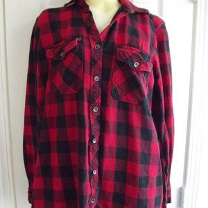 Forever 21 Buffalo Plaid Top S